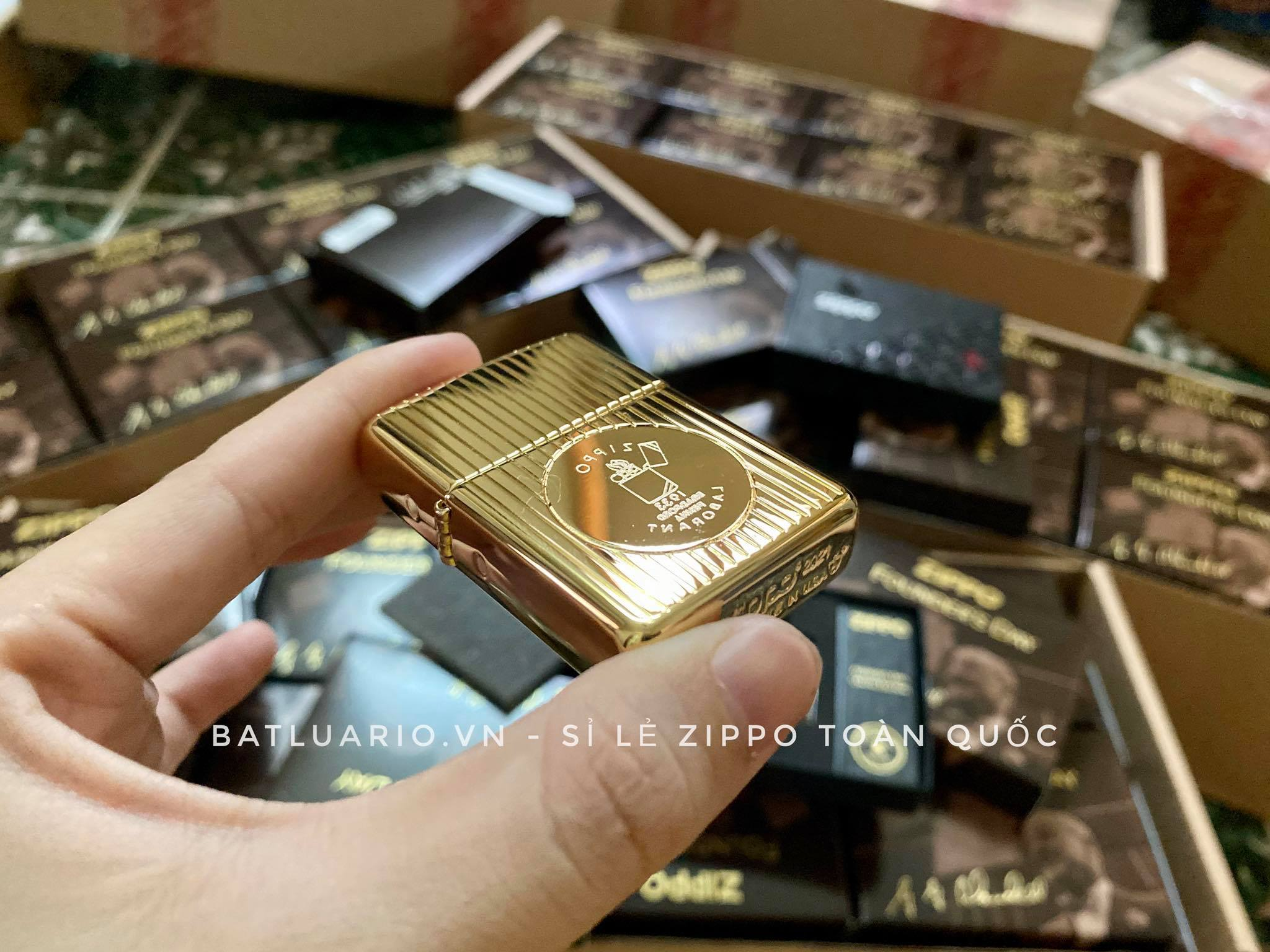 Zippo 49631 - Zippo Founder's Day 2021 Gold Plated Edition Collectible 36
