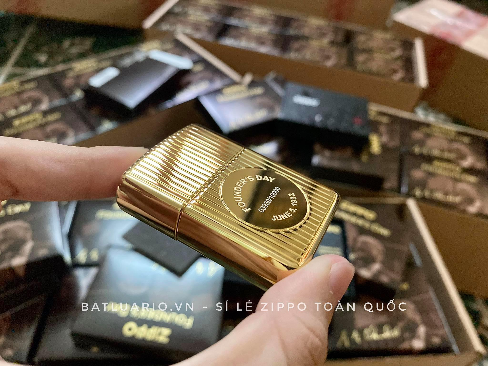 Zippo 49631 - Zippo Founder's Day 2021 Gold Plated Edition Collectible 38