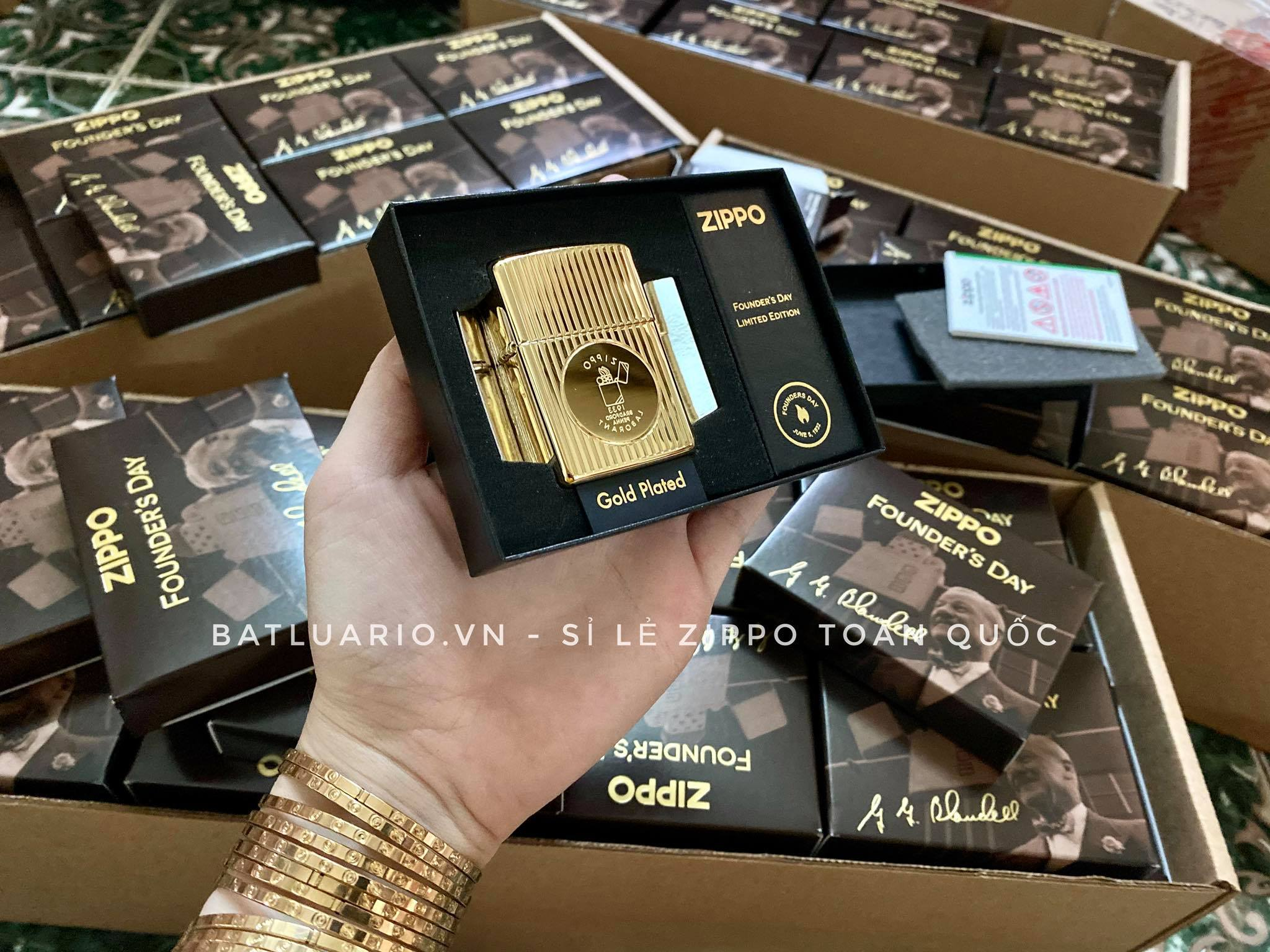 Zippo 49631 - Zippo Founder's Day 2021 Gold Plated Edition Collectible 42
