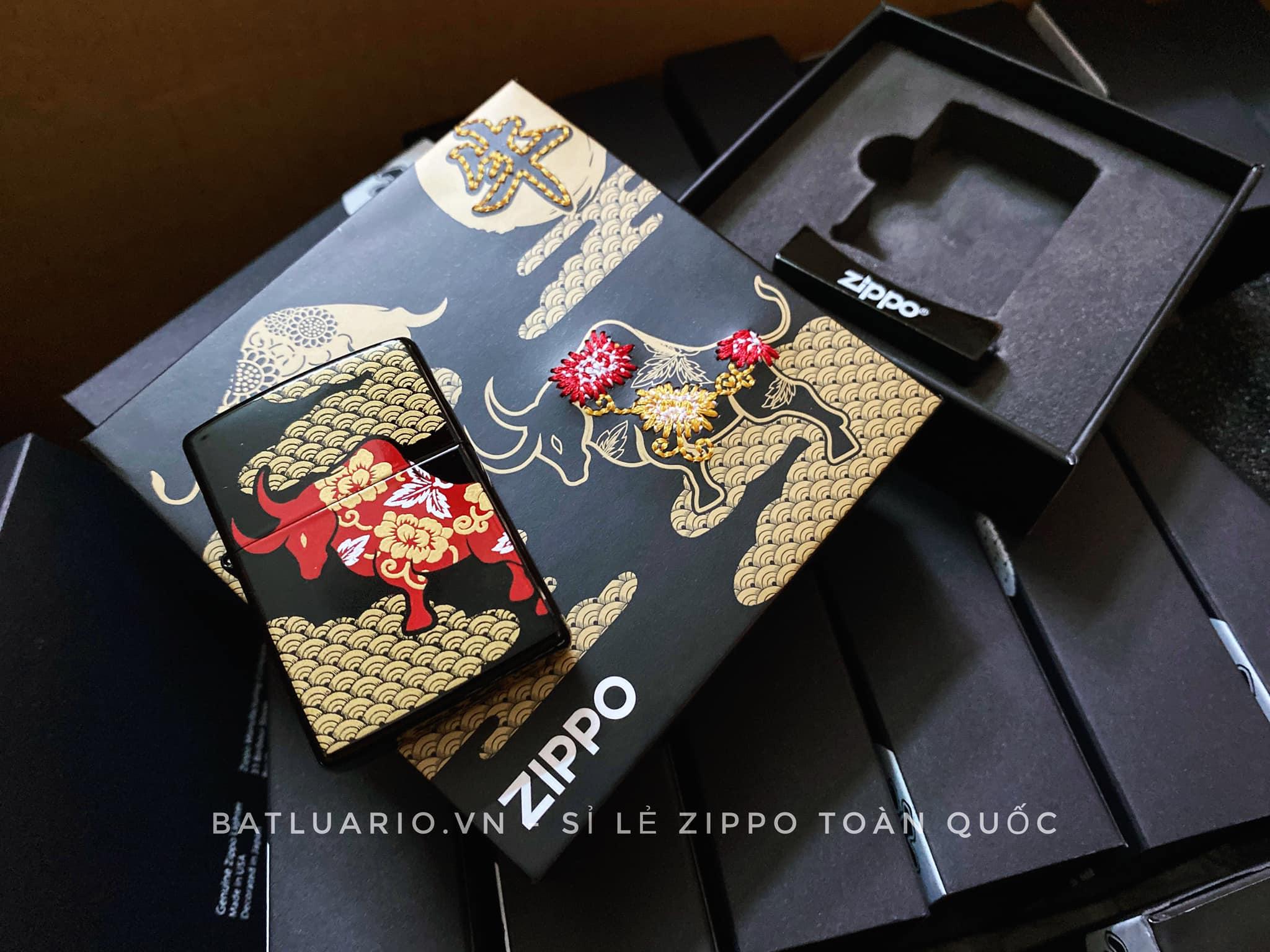 Zippo Year Of The Ox Black Asia Limited Edition - Zippo CZA-2-18B 10