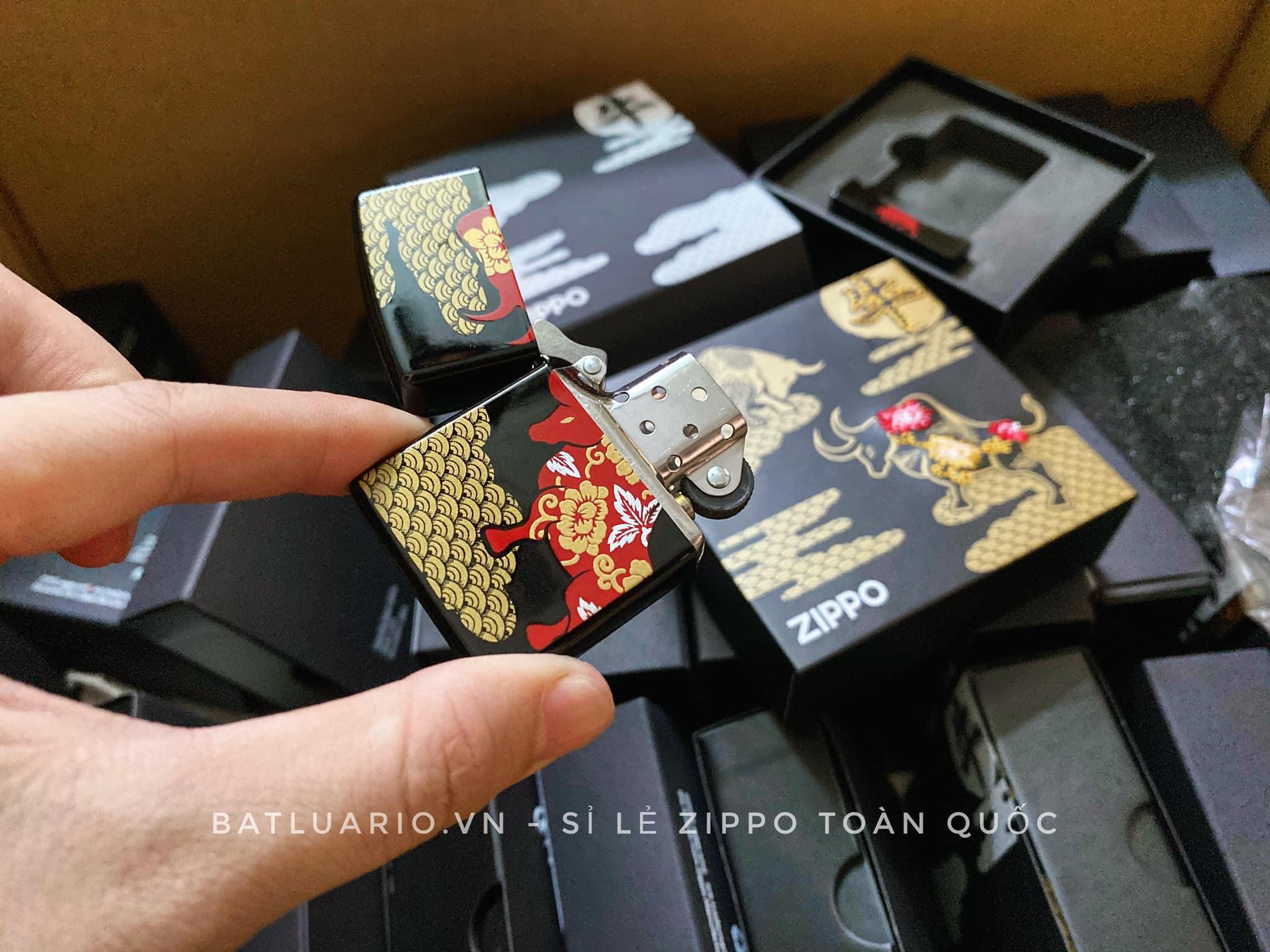 Zippo Year Of The Ox Black Asia Limited Edition - Zippo CZA-2-18B 13