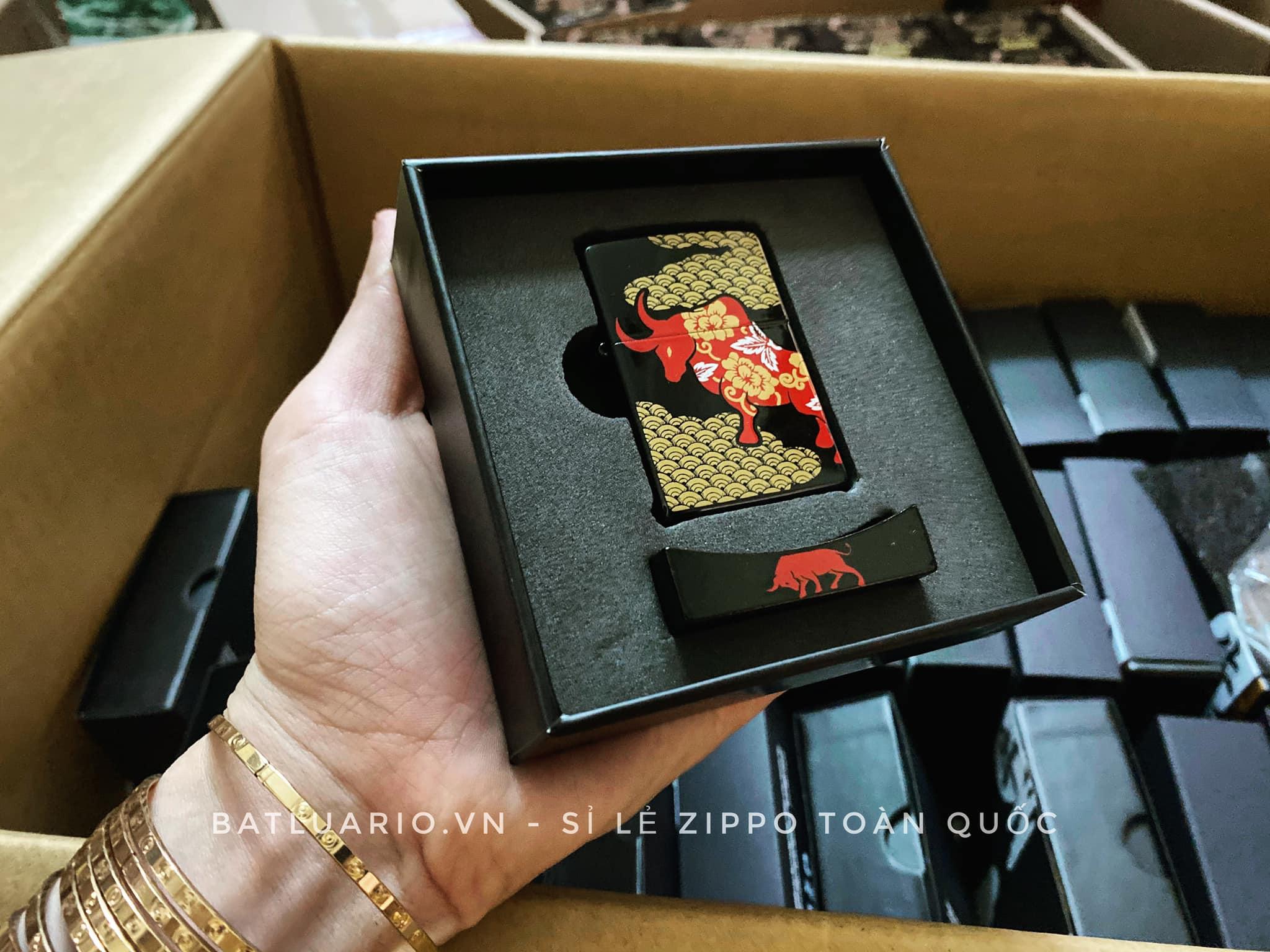Zippo Year Of The Ox Black Asia Limited Edition - Zippo CZA-2-18B 7