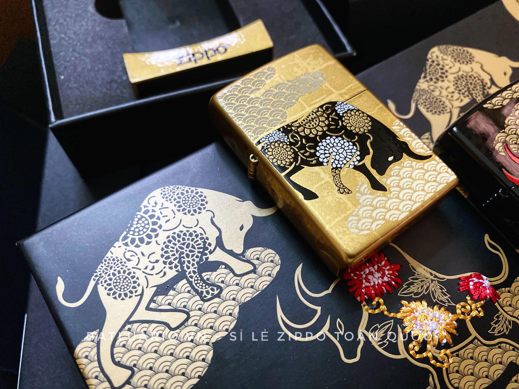Zippo Year Of The Ox Gold Asia Limited Edition - Zippo CZA-2-18A 12