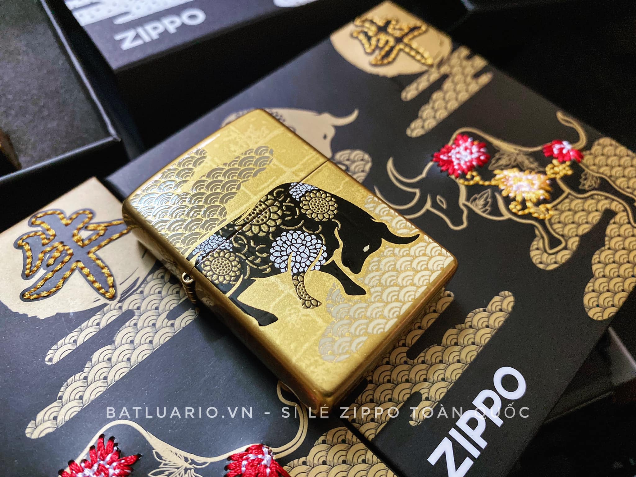 Zippo Year Of The Ox Gold Asia Limited Edition - Zippo CZA-2-18A 13