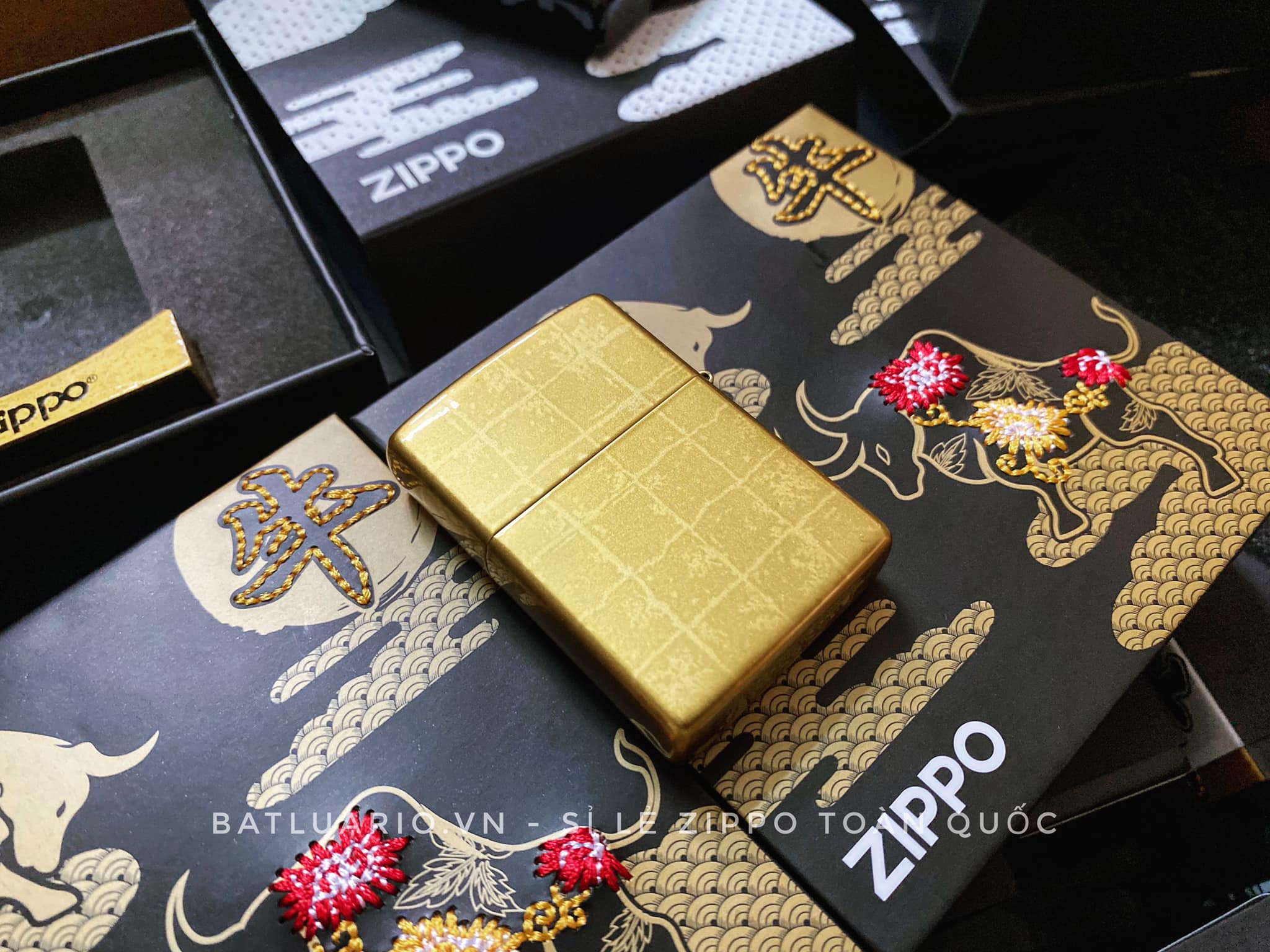 Zippo Year Of The Ox Gold Asia Limited Edition - Zippo CZA-2-18A 14