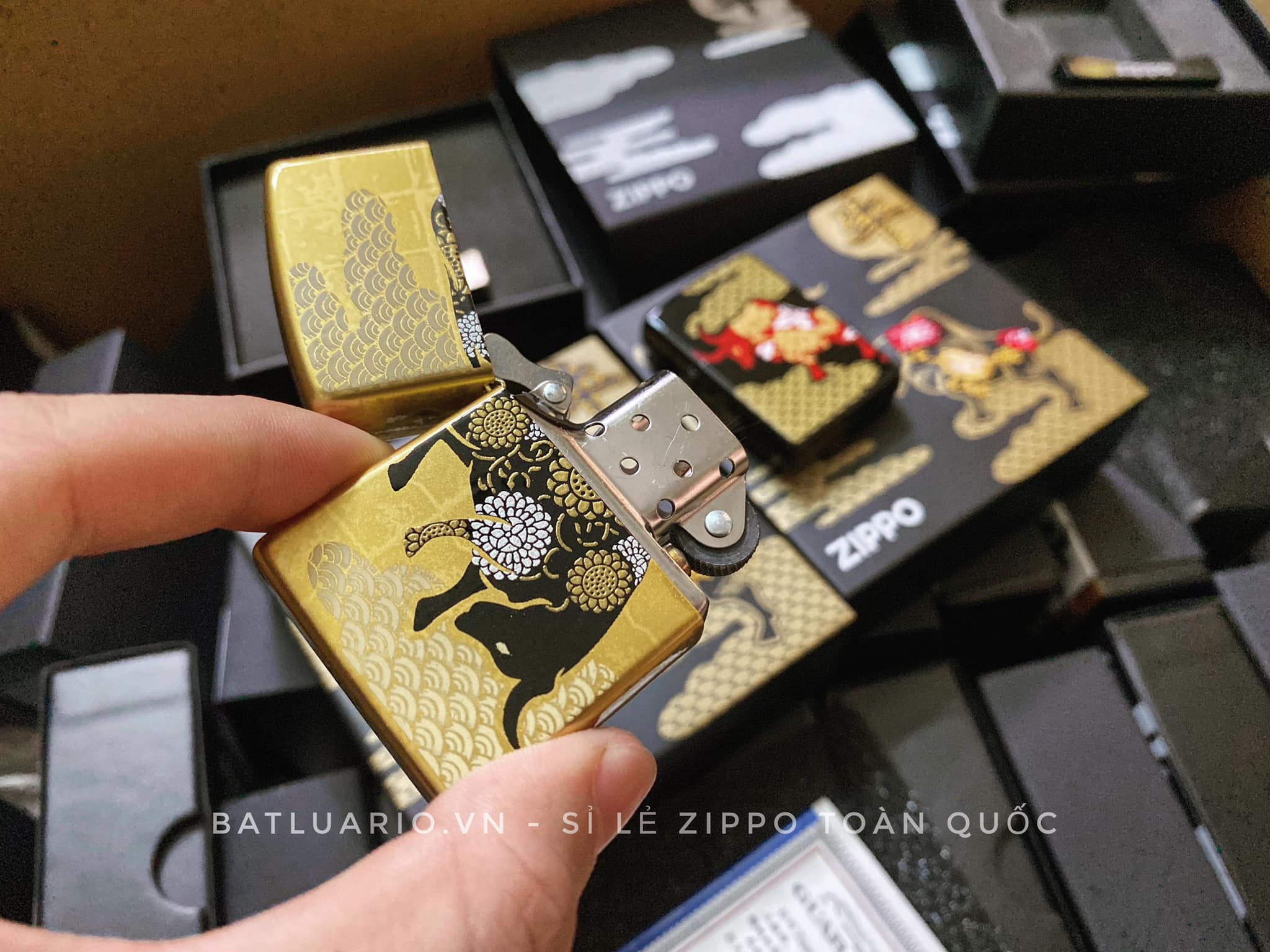 Zippo Year Of The Ox Gold Asia Limited Edition - Zippo CZA-2-18A 15