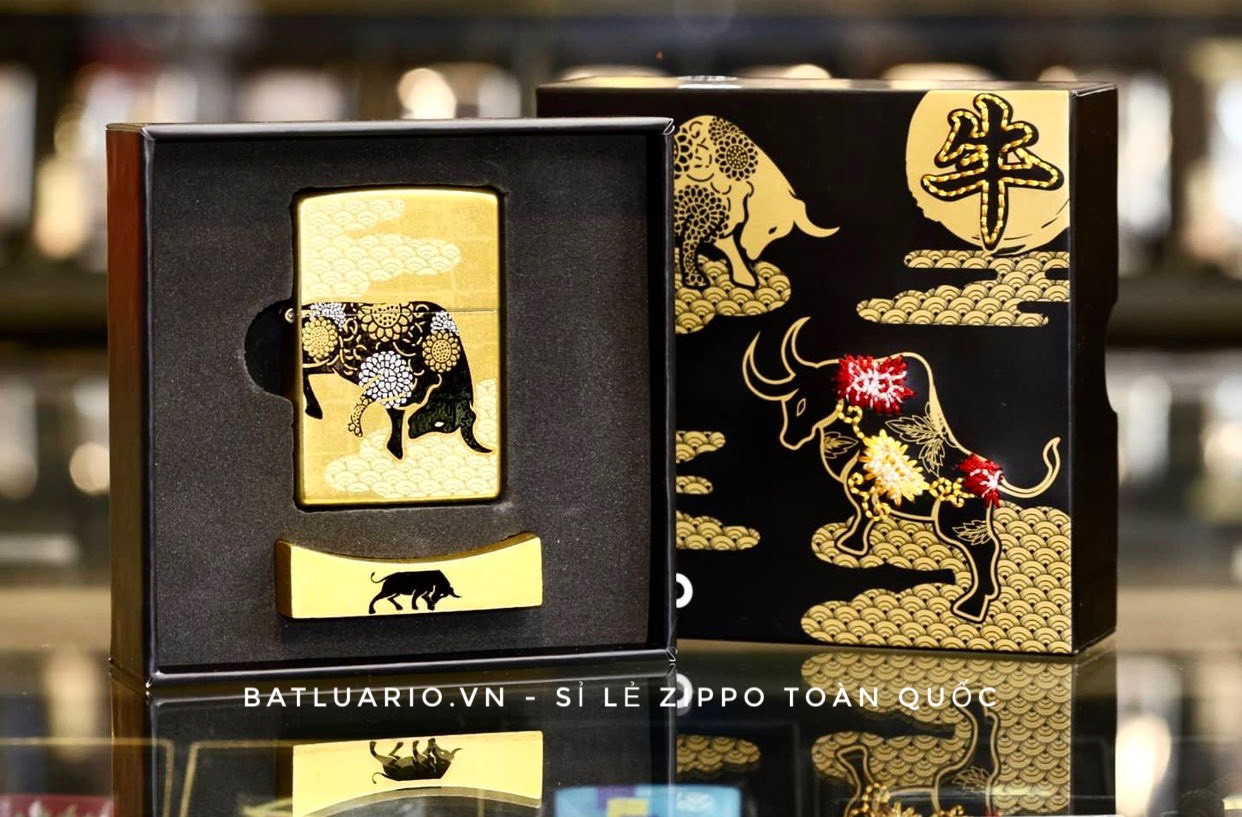 Zippo Year Of The Ox Gold Asia Limited Edition - Zippo CZA-2-18A 3