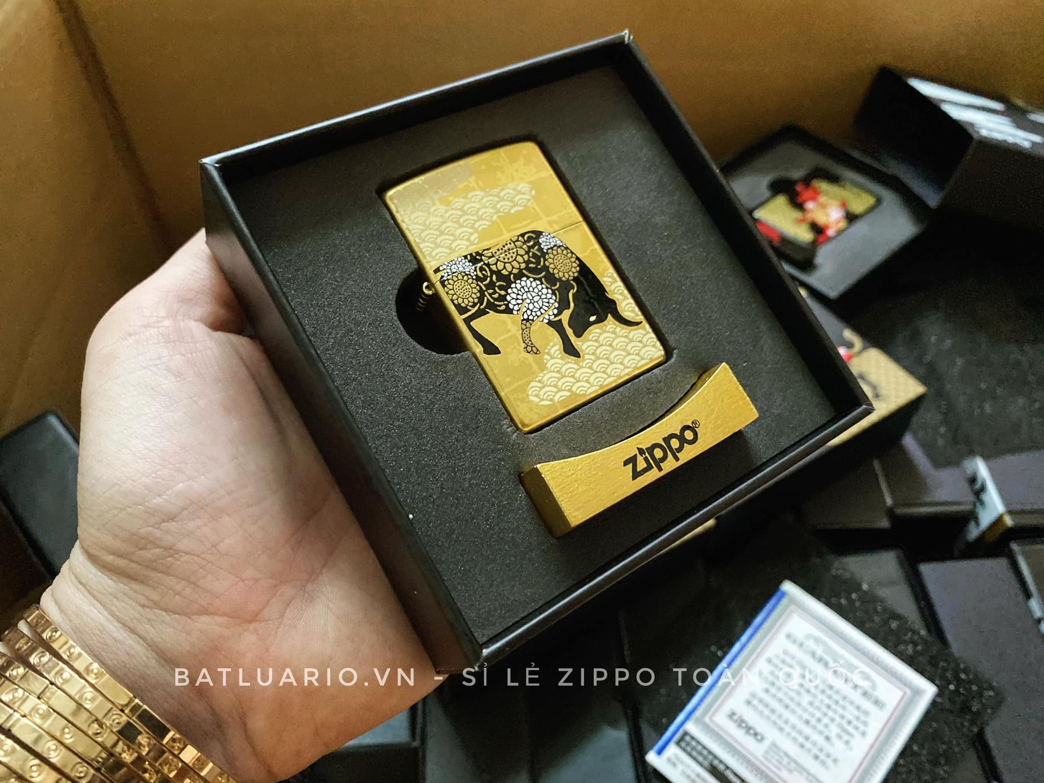 Zippo Year Of The Ox Gold Asia Limited Edition - Zippo CZA-2-18A 4