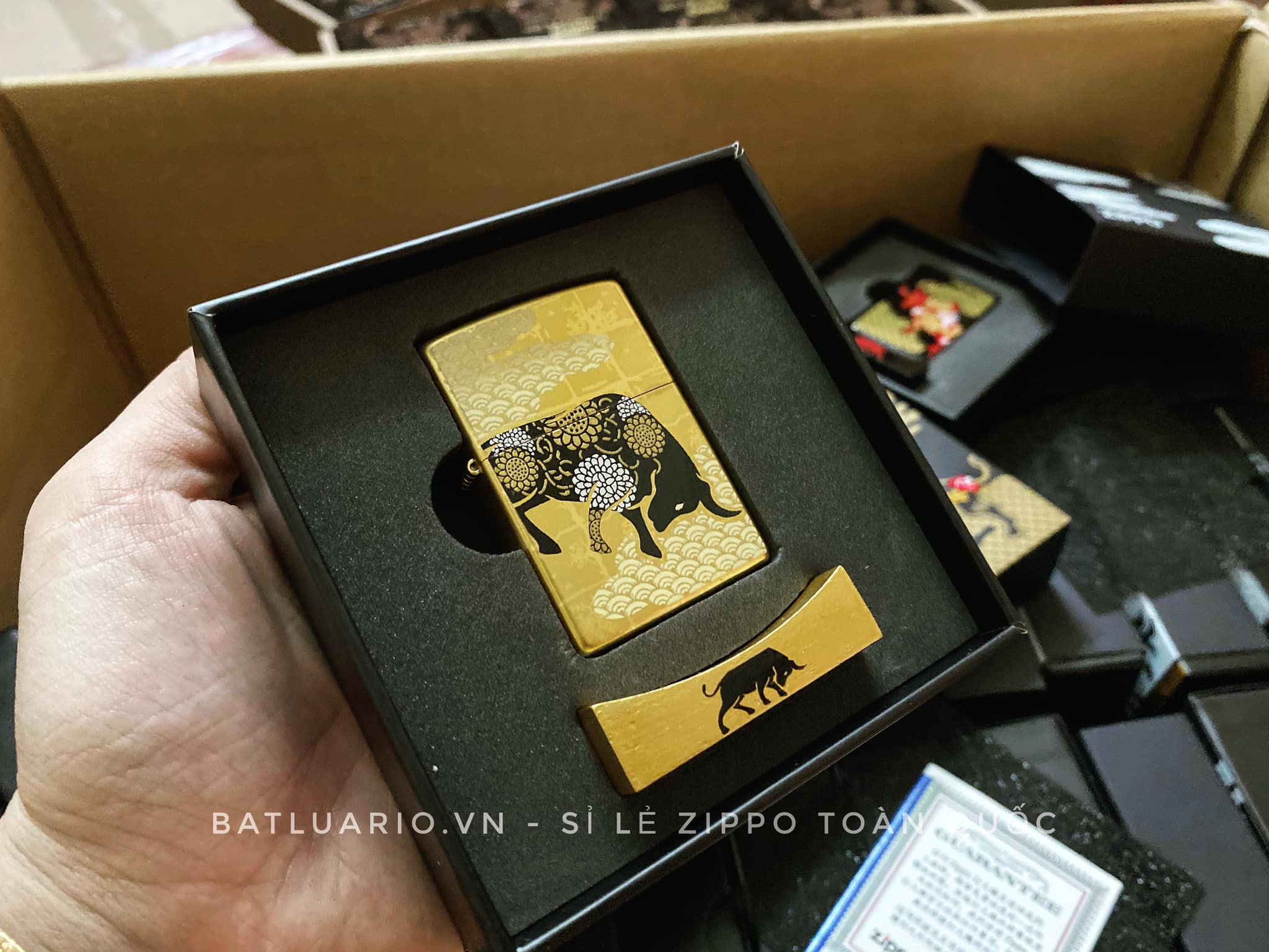 Zippo Year Of The Ox Gold Asia Limited Edition - Zippo CZA-2-18A 5