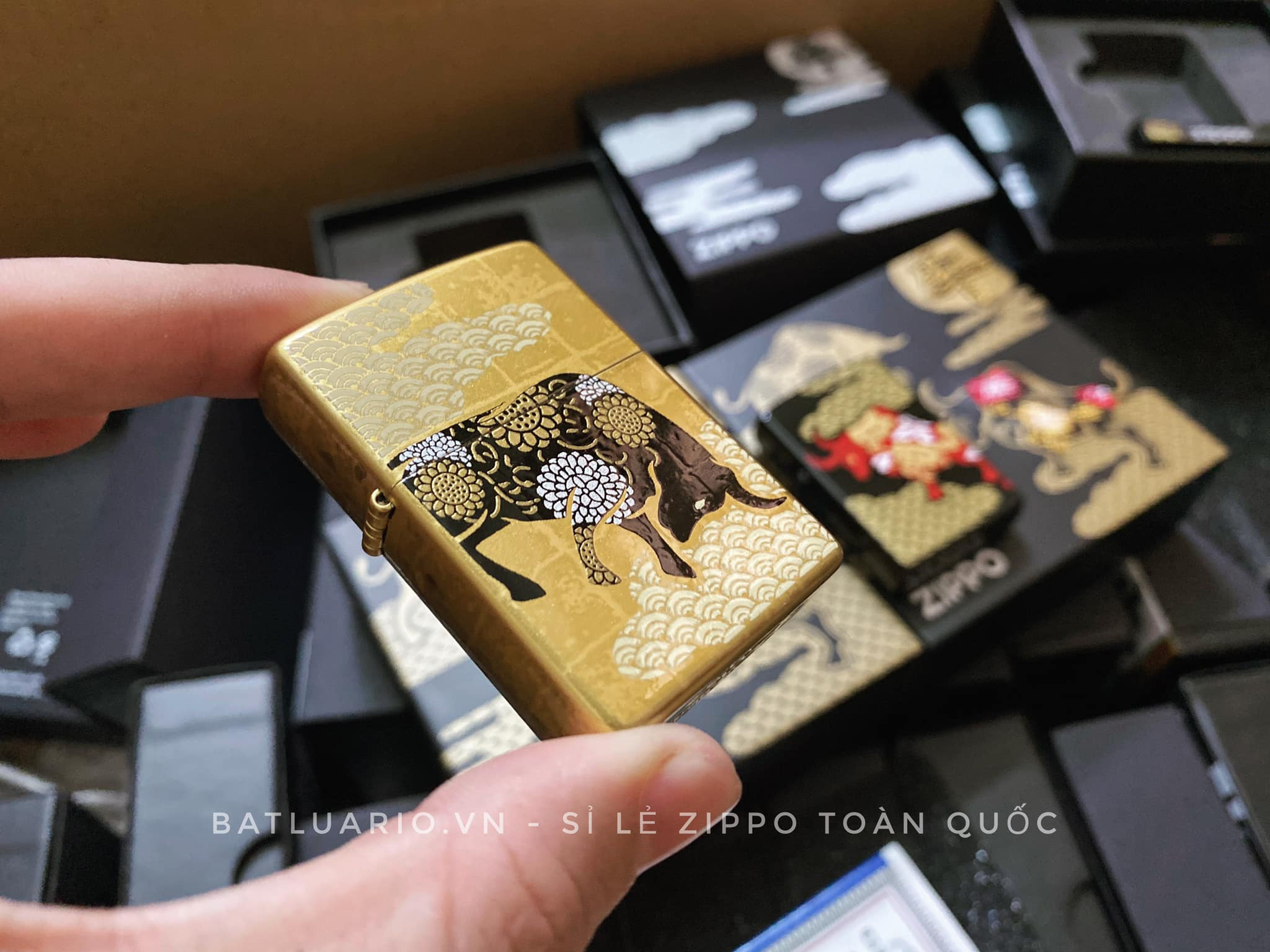 Zippo Year Of The Ox Gold Asia Limited Edition - Zippo CZA-2-18A 7