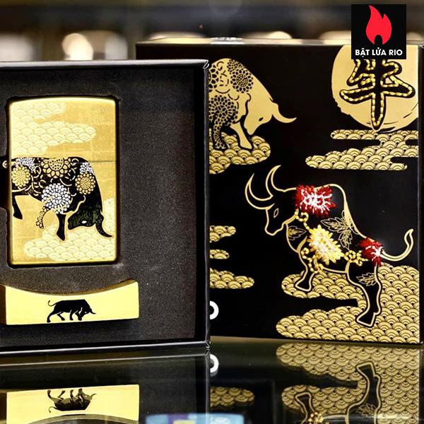 Zippo Year Of The Ox Gold Asia Limited Edition - Zippo CZA-2-18A