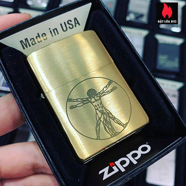 Zippo 204B Vitruvian Man