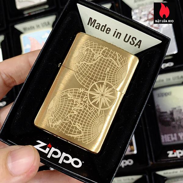 Zippo 204B World Maps
