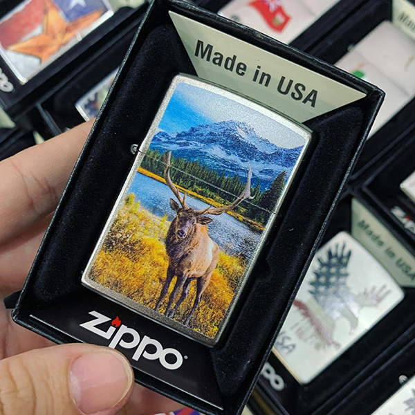 Zippo 205 Autumn Moose Park