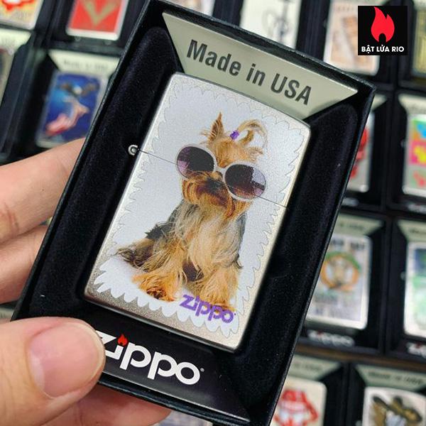 Zippo 205 Puppy In Glasses