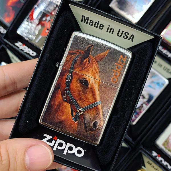 Zippo 207 Red Horse Portrait