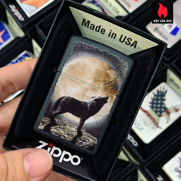 Zippo 218 Wolf Howling To The Moon