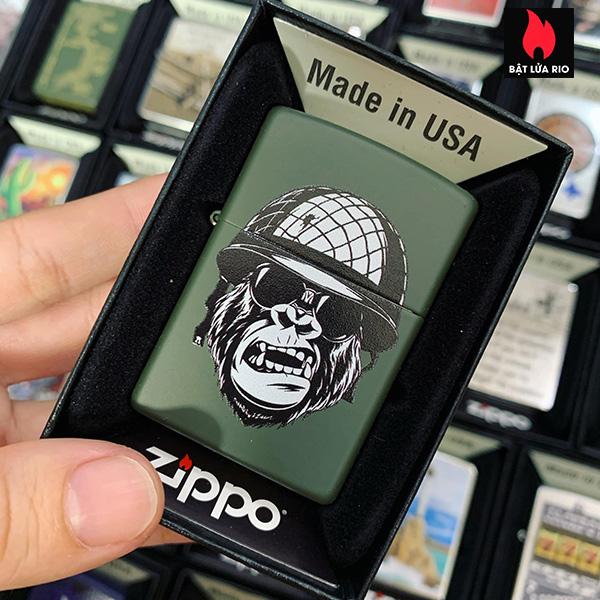 Zippo 221 Soldier With Helmet