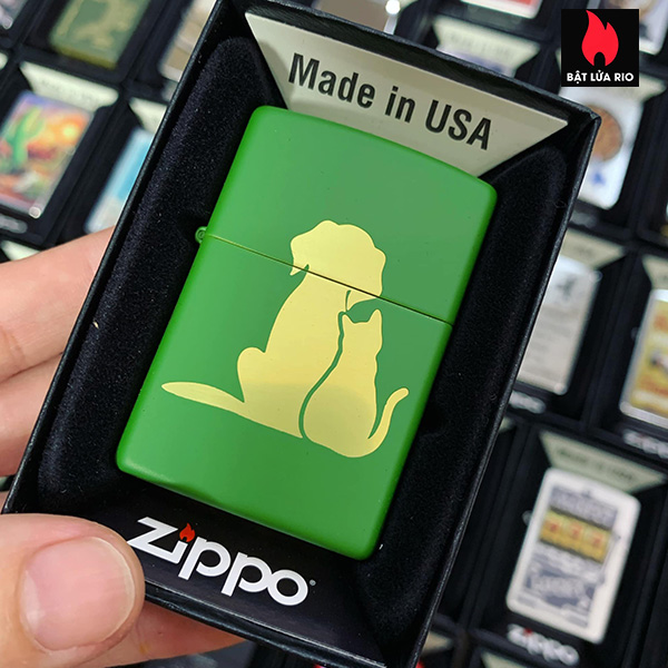 Zippo 228 Cat Dog Design 2