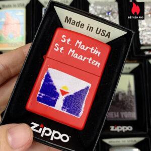 Zippo 233 ST Martin Flag Design