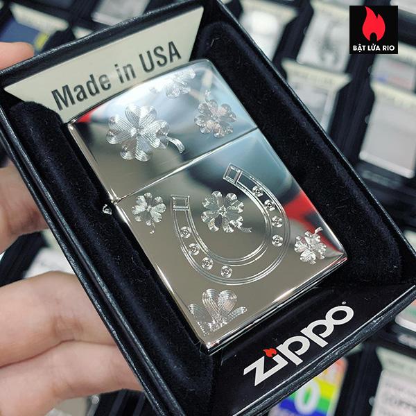 Zippo 250 Horseshoe Clovers Design 2