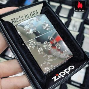 Zippo 250 Horseshoe Clovers Design