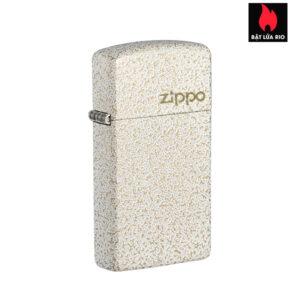 Zippo 49265ZL - Zippo Slim® Mercury Glass Zippo Logo