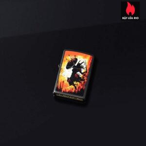 Zippo 49405 - Zippo Warrior Design Black Matte 1