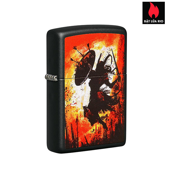 Zippo 49405 - Zippo Warrior Design Black Matte