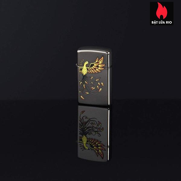 Zippo 49407 - Slim® Phoenix Design Black Ice® 1