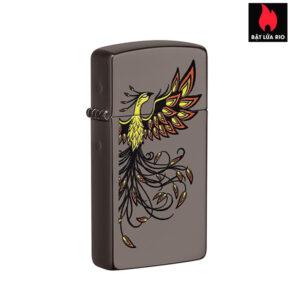 Zippo 49407 - Slim® Phoenix Design Black Ice®