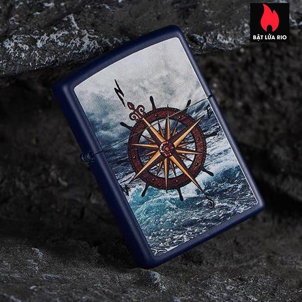 Zippo 49408 – Zippo Compass Design Navy Matte 2