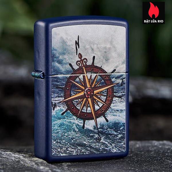 Zippo 49408 – Zippo Compass Design Navy Matte 5