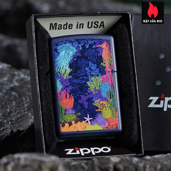 Zippo 49409 – Zippo Sea Life Design Navy Matte 5