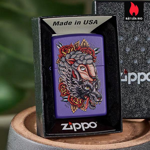 Zippo 49413 – Zippo Wolf in Sheep's Clothing Purple Matte 4