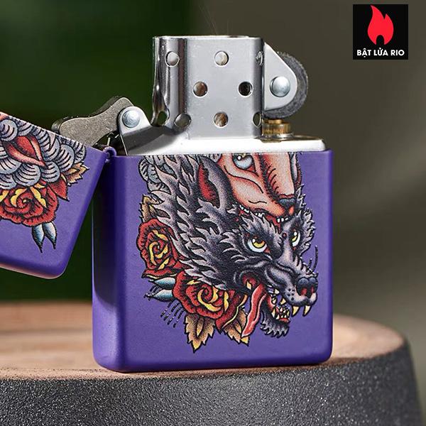 Zippo 49413 – Zippo Wolf in Sheep's Clothing Purple Matte 5