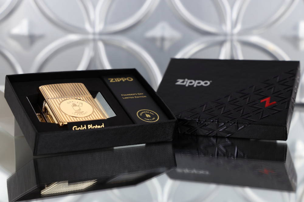 Zippo 49631 - Zippo Founder's Day 2021 Gold Plated Edition Collectible 47