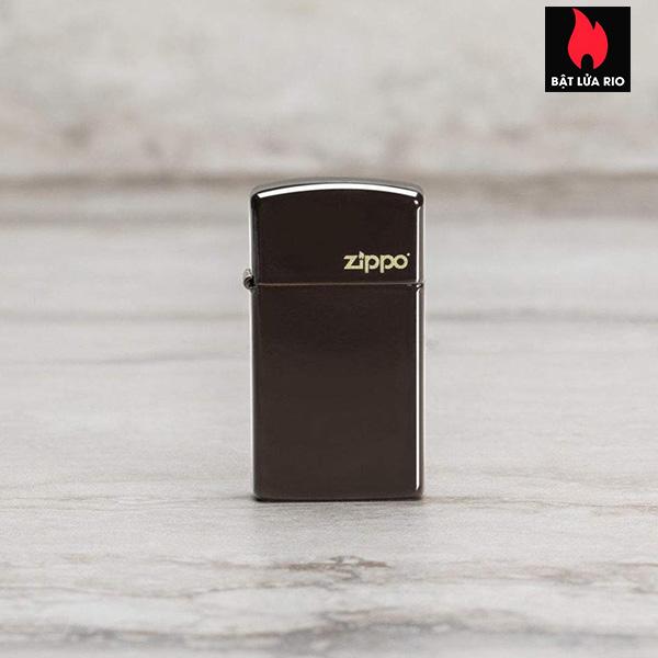 Zippo 49266ZL - Zippo Slim® Brown Zippo Logo 1