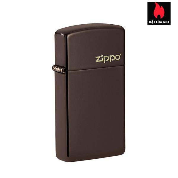 Zippo 49266ZL - Zippo Slim® Brown Zippo Logo