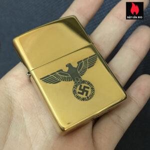 Zippo Armor Brass 169 Vỏ Dày Khắc Đức Quốc Xã 07 – Zippo 169.DQX07