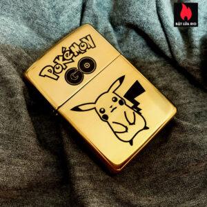 Zippo Brass 254B Khắc Pokemon - Zippo 254B.POKEMON