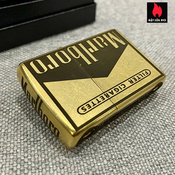 Zippo Gold Dust 207G Khắc Marlboro Light 5 Mặt – Zippo 207G.MARL 14