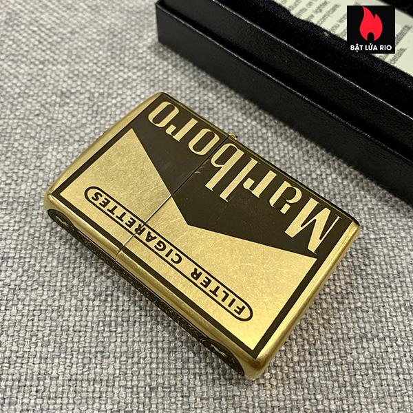 Zippo Gold Dust 207G Khắc Marlboro Light 5 Mặt – Zippo 207G.MARL 2