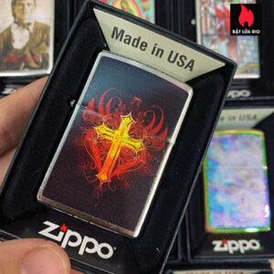 Zippo 200 Glowing Cross