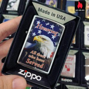 Zippo 205 Eagle Honoring