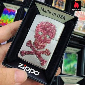 Zippo 205 Ladies Pink Skull & Crossbones