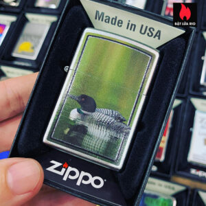 Zippo 205 Swimming Loon And Baby