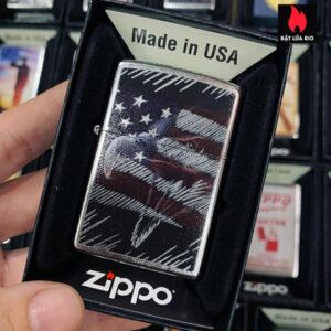 Zippo 207 Eagle US Flag Design