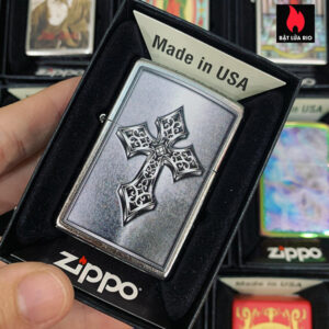 Zippo 207 Ornate Cross