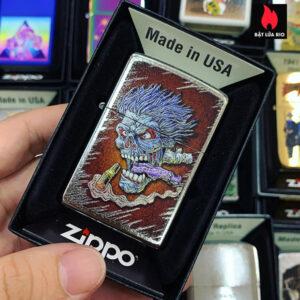 Zippo 207 Zombie Skull Design